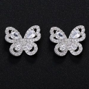 Jewelry - Butterfly stone earrings